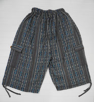 Woven Boho Shorts Size XL | Lavender Turquoise Hippie Shorts | Tribal Shorts | Unisex Shorts | Father's Day Gift