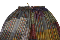Hippie Clothes | Boho Pants Size XL | Hippie Pants | Yellow Gray