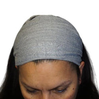 Boho Headband | Yoga Headband | Hippie Headband | Light Gray Stretchy Woven Hairband