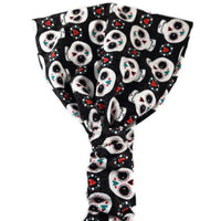 Halloween Headband | Wide Cotton Headband | Day of the Dead | Halloween Bandana Headband | Headscarf for Women