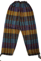 Hippie Pants Size XL |Bohemian Clothes | Women Clothes Bohemian | Men Festival Clothing | Yellow Purple Women Pants with Pockets