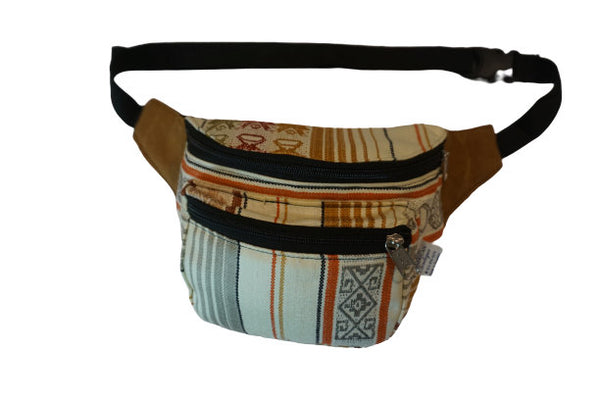Fanny Pack | Boho | Beige Gray | Festival Fanny Pack | Hippie Waist Pack | Tribal Hip Bag | Halloween | Gift for Her