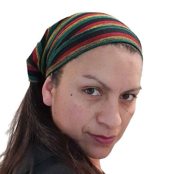 Small Boho Headband | Rasta Reggae Boho Headband | Boho Hairband
