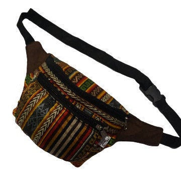 Fanny Pack | Halloween | Gift for Her | Brown Coffee Multicolor Boho Fanny Pack | Festival Fanny Pack | Hippie Waist Pack | Tribal Hip Bag