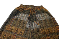 Boho Pants Size S | Brown Earth Colors Mens Hippie Pants | Womens Pants with Pockets