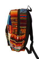 Large Backpack | Hippie Backpack | Festival Backpack | Fair Trade | Rainbow Multicolor