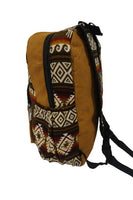 Brown Chocolate Llama Backpack | Tribal backpack | Bohemian Travel Hippie Backpack | School Backpack | Boho Backpack | Vegan Bag