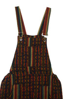 Rasta Boho Overalls Size L | Woven Hippie Overalls | Mens Overalls with pockets | Womens Jumpsuit