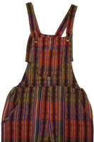 Womens Jumpsuit Size S | Mens Overalls | Womens Overalls | Green Orange Multicolor