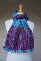 Light Blue Plum Warm Boho Scarf | Cozy Scarf | Winter Scarf | Scarves and Wraps