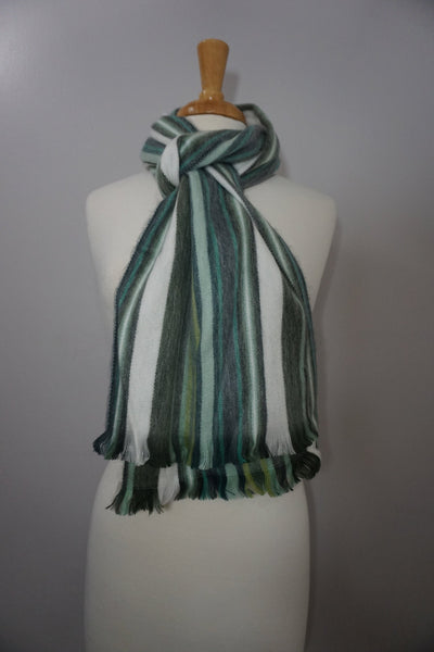 Wool Scarf | Cozy Scarf | Sage White Winter Scarf | Scarves and Wraps