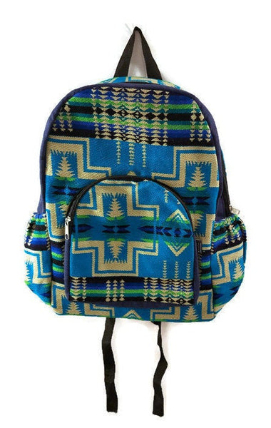 Turquoise Beige Big Backpack Ethnic Bag Tribal backpack Bohemian Backpack Travel Backpack Hippie Backpack School Backpack Boho Backpack