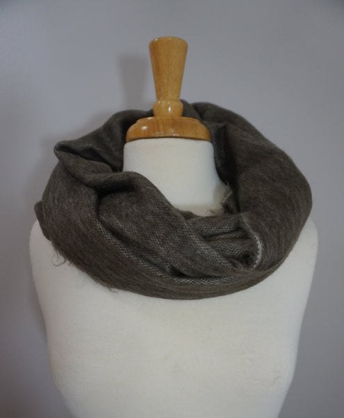 Infinity Alpaca Scarf | Brown Winter Scarf | Cozy Scarf