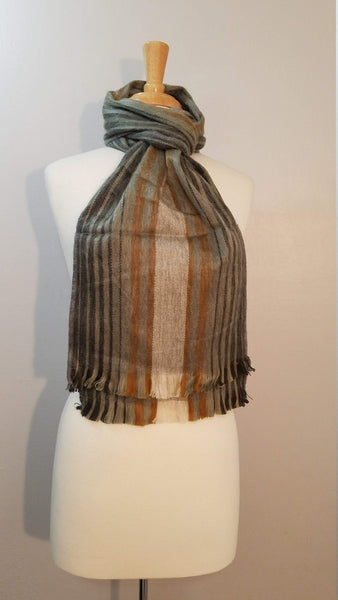 Brown Gray Alpaca Scarf | Cozy Scarf | Winter Scarf | Scarves and Wraps