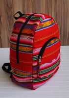 Red Yellow Big Backpack Ethnic Bag Tribal backpack Bohemian Backpack Travel Backpack Hippie Backpack School Backpack Boho Backpack
