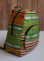 Green Big Backpack Ethnic Bag Tribal backpack Bohemian Backpack Travel Backpack Hippie Backpack School Backpack Boho Backpack