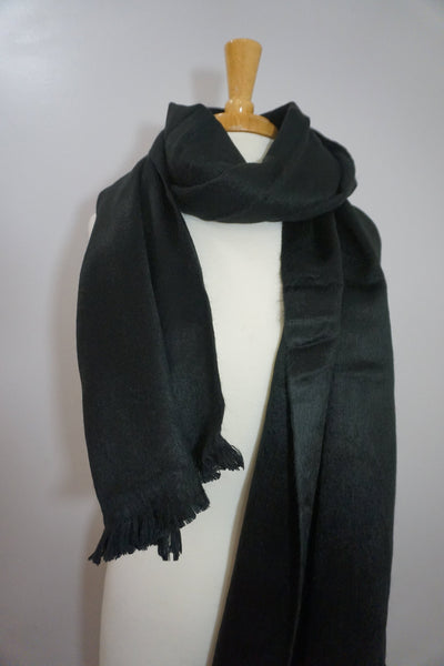 Wool Wrap | Chunky Over size Scarf | Black Winter Scarf | Shawl