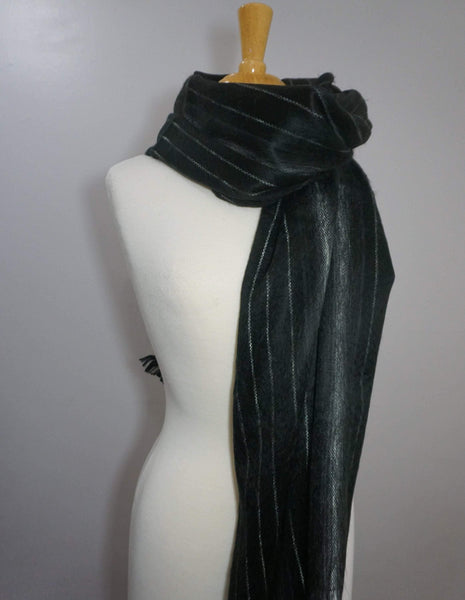Alpaca Wrap | Chunky Over sized Scarf | Black White Winter Scarf | Alpaca Shawl
