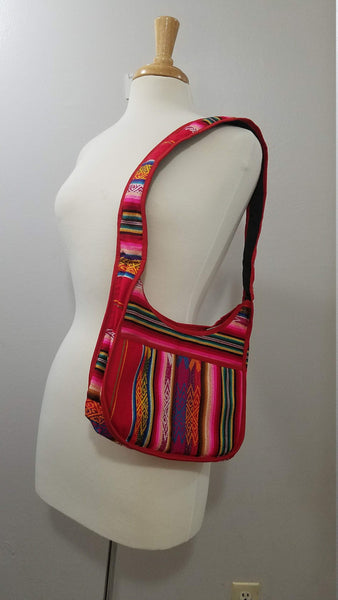 Red Tribal Shoulder Handbag | Boho Purse | Hippie Bag | Women Bag