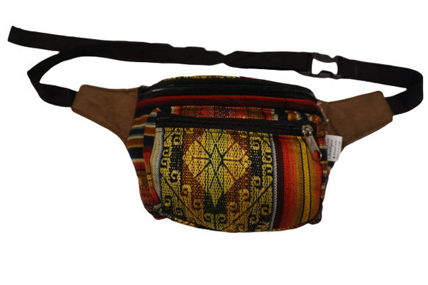 Fanny Pack | Boho Festival Hip Bag | Shades of Brown and Yellow