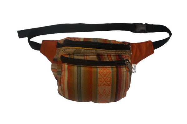 Fanny Pack | Boho Festival Hippie Hip Bag | Beige Orange
