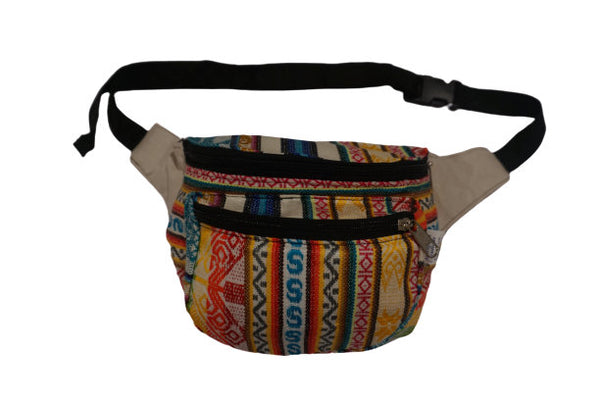 Fanny Pack |Festival Hippie Hip Bag | White flurry of Colors