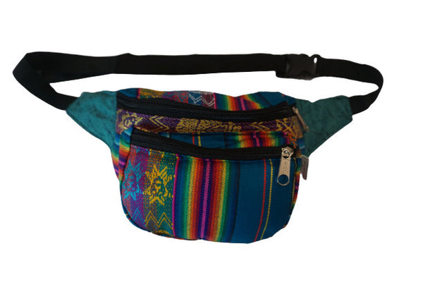 Fanny Pack | Fanny PackBoho Fanny Pack | Rainbow and Blue Fanny Pack| Festival Fanny Pack | Hippie Waist Pack | Tribal Hip Bag