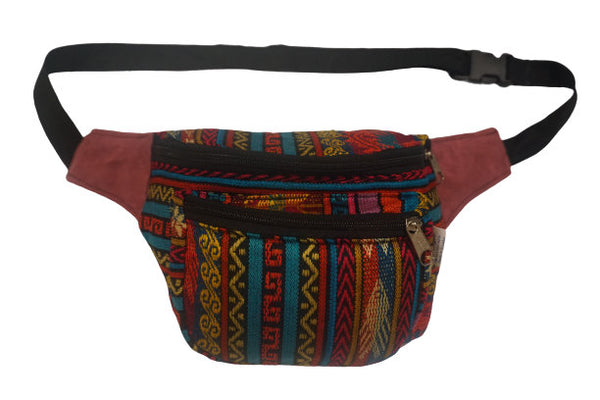 Fanny Pack | Boho | Rainbow Pink and a hot mess of bright colors | Festival Fanny Pack | Hippie Waist Pack | Tribal Hip Bag