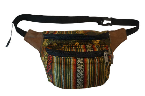 Fanny Pack | Fanny PackFanny Pack | Hippie Waist Pack |  Hip Bag | Green with Brownish Earth TonesHalloween | Gift for Her