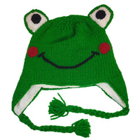 Frog Hat Knitted Winter Hat for Kids and Adults  Ski Hat Winter Beanies