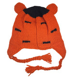 Tiger Hat Winter Beanie Hat for Toddlers Boys or Girls Stretchy Hat Photo Prop Adults Hat Wool Animal Hat