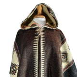 Alpaca Poncho | Poncho Women | Wool Poncho | Hooded Cape | Warm Poncho | Hippie Poncho | Mens Poncho Hoodie | Brown Beige | Christmas gift