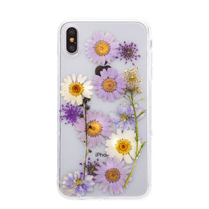 Load image into Gallery viewer, DIY Purple Floral Bouquet iPhone Case