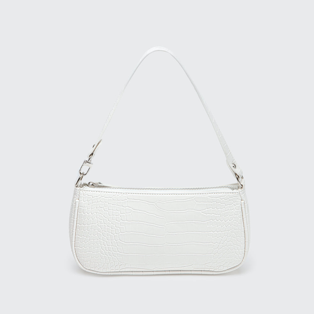 Cream Croco Bag