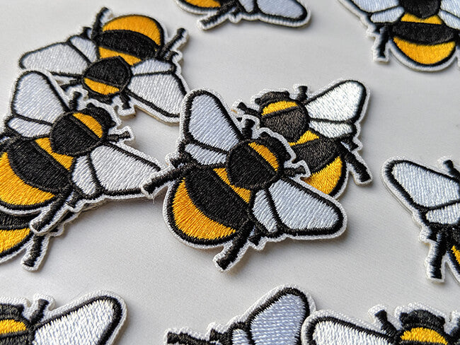 Iron On Bee Embroidered Patch