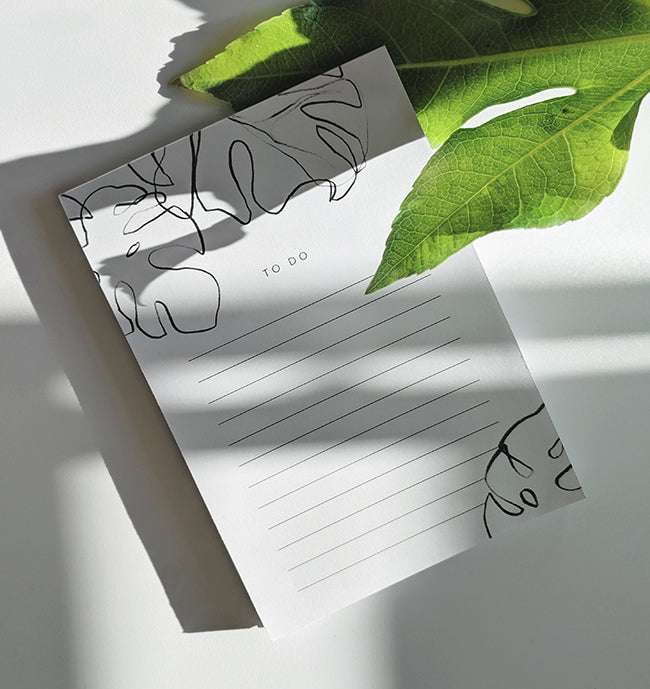 Monstera To-Do Lists Notepad