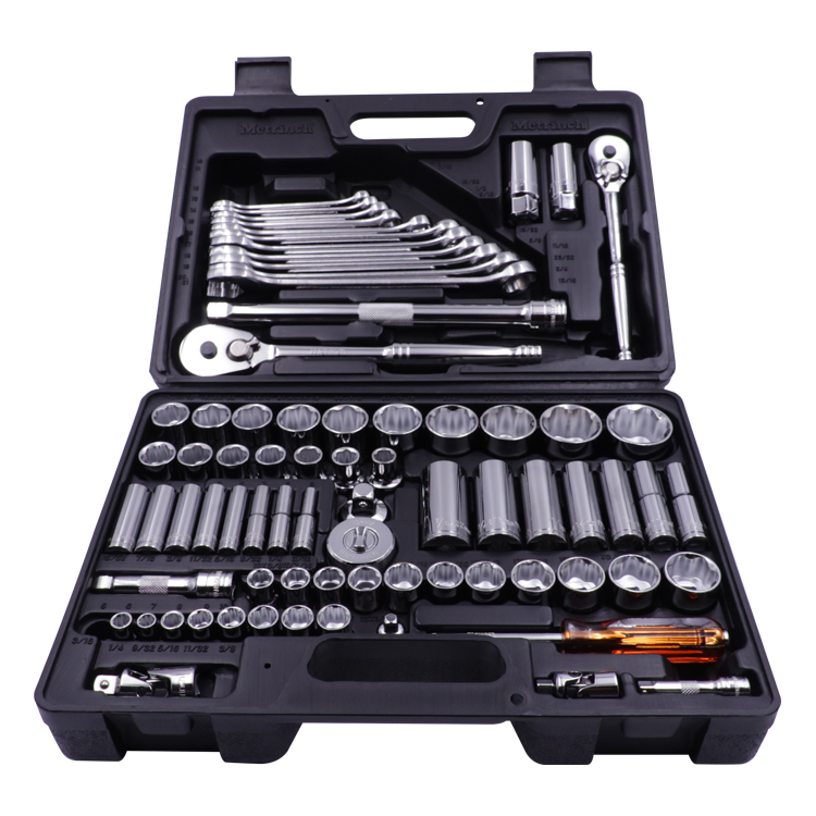 76 Piece Combination Wrench & Socket Set