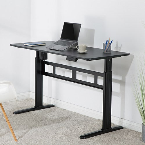 Brateck Stylish Single-Motor Sit Stand Height Adjustable Desk (Black) 1400x600x740 1200mm