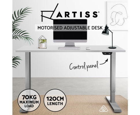 Artiss Height Adjustable Electric Sit Stand Desk Computer Table Office 120cm