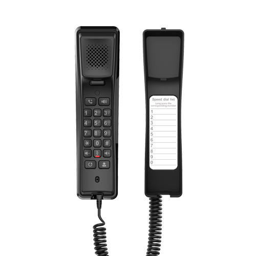 Fanvil H2U Compact IP Phone, 2 SIP Lines, HD Audio, Desk/Wall Mount, 10 Speed Dial Keys, PoE, 3 Way Conference