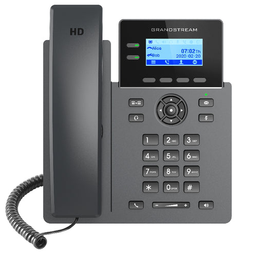 Grandstream GRP2602P 2 Line IP VoIP Phone, 4 SIP Accounts, HD Audio, Powerable Via POE