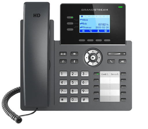 Grandstream GRP2604P 3 Line IP Phone, 6 SIP Accounts, Backlit Screen, HD Audio, Powerable Via POE