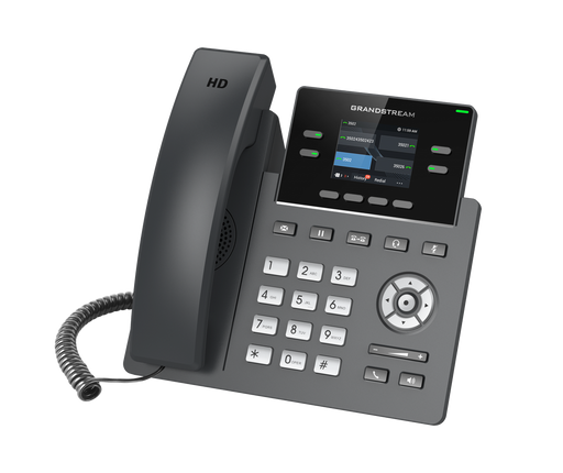Grandstream GRP2612P 4 Line IP Phone, 2 SIP Accounts, 320x240 Colour Screen, HD Audio, Powerable Via POE