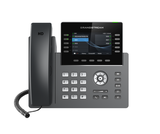 Grandstream GRP2615 10 Line IP VoIP Phone, 16 SIP Accounts, Colour Screen, HD Audio, Powerable Via POE