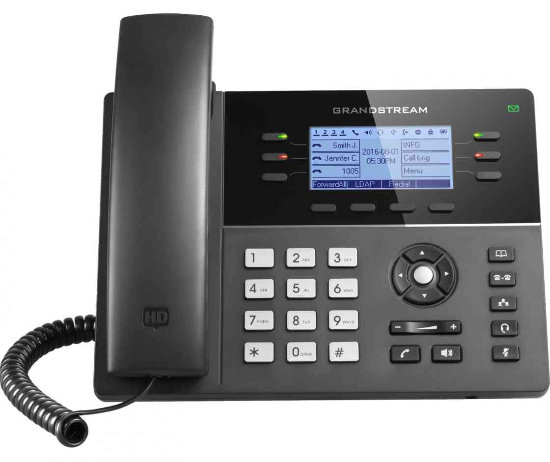 Grandstream GXP1760W 6 Line IP VoIP Phone, 3 SIP Accounts, Backlit Display, Integrated Dual Band WiFi, Powerable Via POE