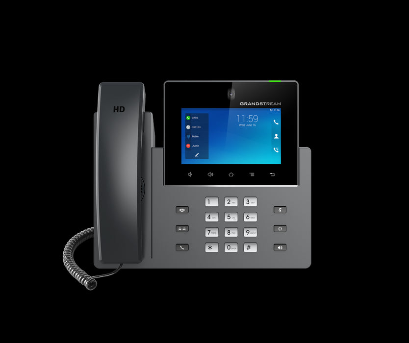 Grandstream GXV3350 16 Line Android IP Phone, 1280 x 800 Colour HD Touch Screen, Dual Gig Ports, Bluetooth, WiFi, USb, HDMI,