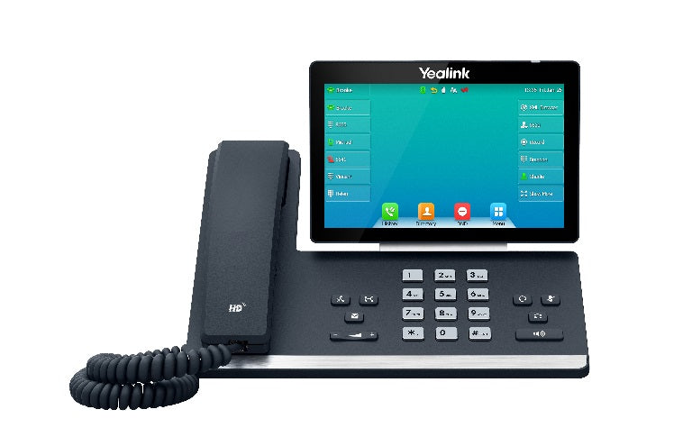 Yealink SIP-T57W, 16 Line IP HD Phone, 7' 800 x 480 colour screen, HD voice, Dual Gig Ports, Built in Bluetooth and WiFi, USB 2.0 Port