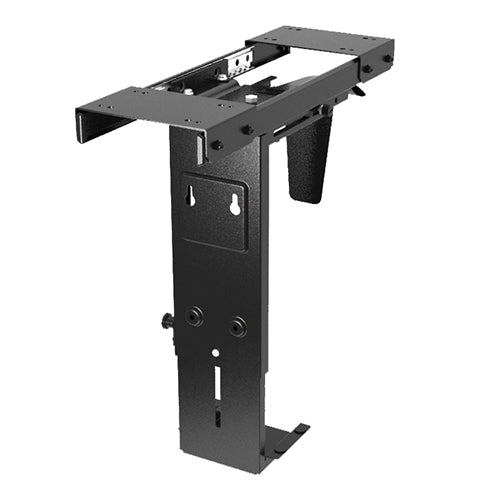Brateck Adjustable Under-Desk CPU Holder Mount with Sliding track 10kg 360° Swivel