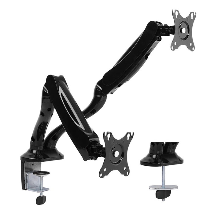 Brateck Dual Monitor Interactive Counterbalance LCD VESA Desk Clamp and Grommet Mount for 13''-27'' LCD Monitors