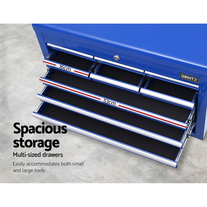 Giantz 10-Drawer Tool Box Chest Cabinet Garage Storage Toolbox Blue